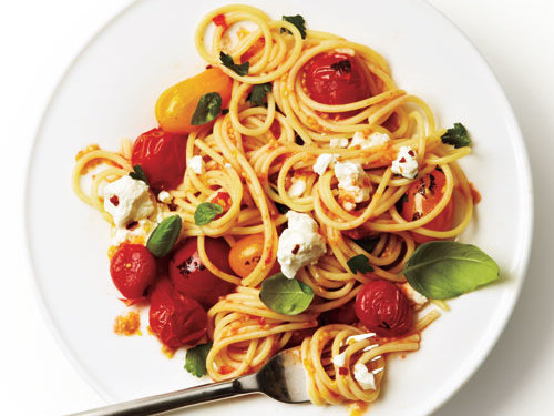 Quick Roasted Cherry Tomato Sauce with Spaghetti Recipe