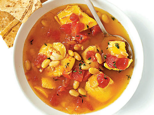 Saffron Fish Stew with White Beans Recipe