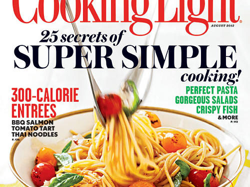 Cooking Light August 2012 Cover