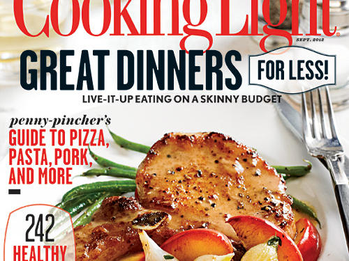 Cooking Light September 2012 Cover