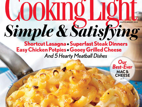 Cooking Light September 2013 Cover