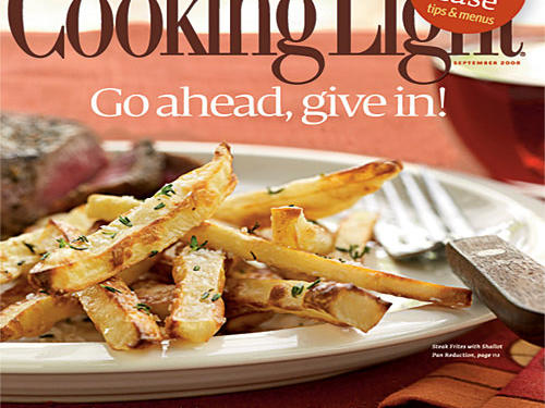 September 2008 Magazine Cover from Cooking Light