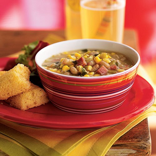 Summer Corn and White Bean Soup
