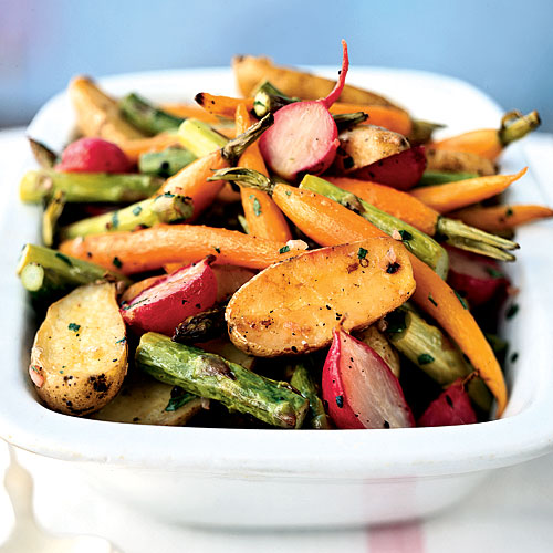 Roasted Baby Spring Vegetables Recipes