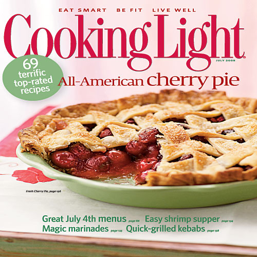 July 2008 Magazine Cover from Cooking Light