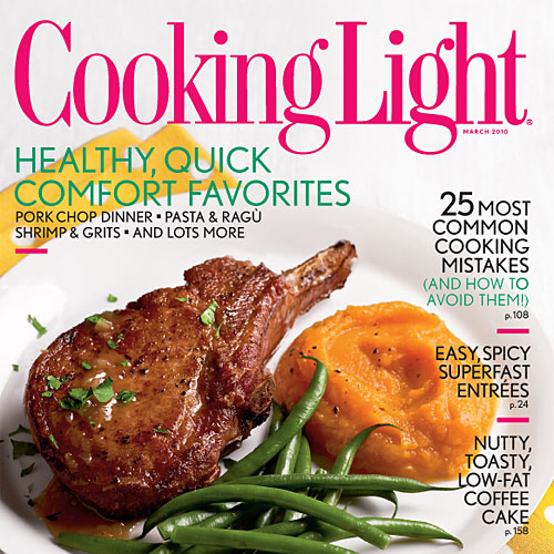 Cooking Light Magazine, March 2010 Cover