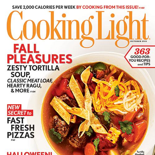 Cooking Light October 2011 Cover