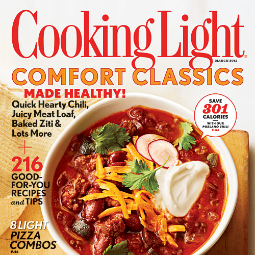 Cooking Light March 2012 Cover