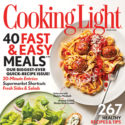 Cooking Light April 2012 Cover