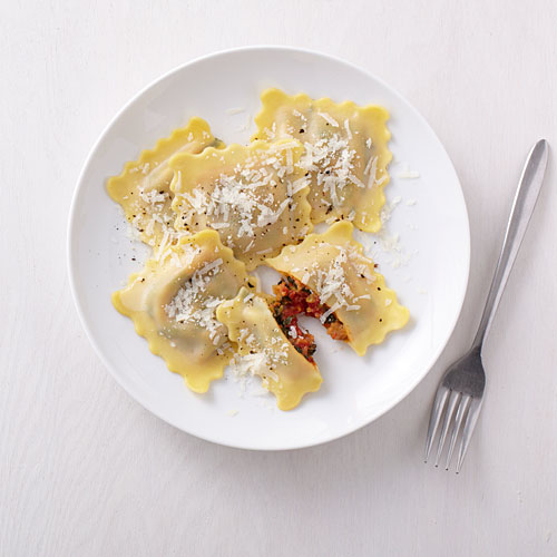 Heirloom Tomato and Spinach Ravioli